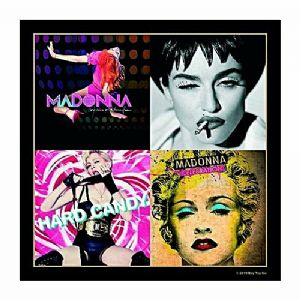 Madonna single drinks mat / coaster (Vers. 2 incl. Hard Candy)  (ro)